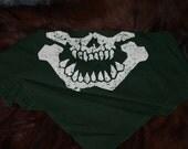 Goblin skull bandanna face mask