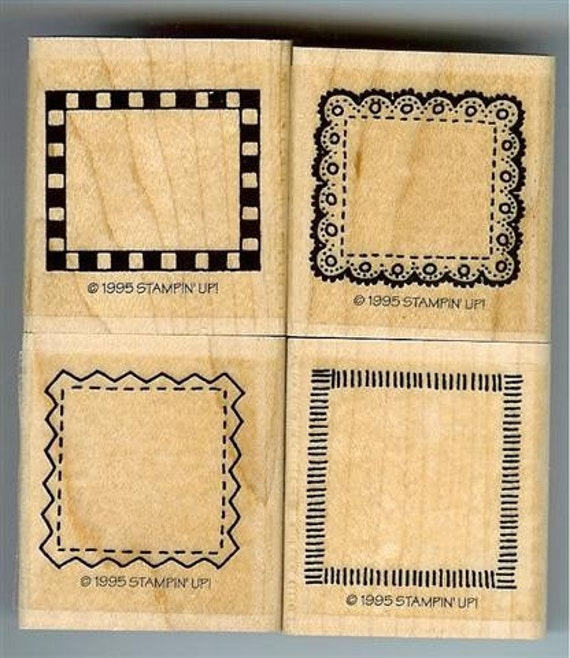 Stampin Up Borders Mini Set Of 4 Rubber Stamps