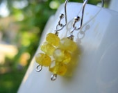 African Yellow Sapphire Stack Earring