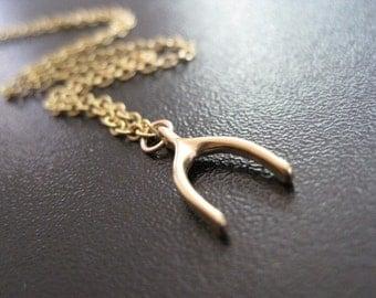 Vermeil Wishbone Necklace