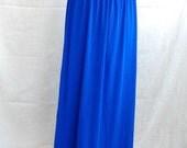 colbalt blue maxi skirt or dress