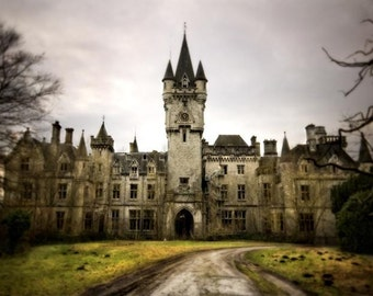 "Neglected Beauty, Fine Art Print, Abandoned Building, Belgium Architectural, landscape, nature color photography ""Chateau Miranda"""