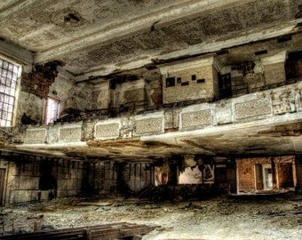 "Gary Indiana abandoned building, Neglected Beauty, Fine Art, wall art, Architecture surreal color photograph ""soldOUT"""