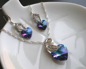 Swarovski Swan Necklace and Earring Set