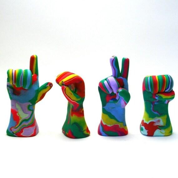 Tye Die Love Hands