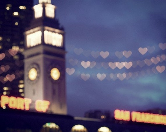 San Francisco, Travel Photography, Couples, Romance, California, fpoe, Bokeh, Hearts, Love, Summer -Love is in the Air  FIne Art Prin