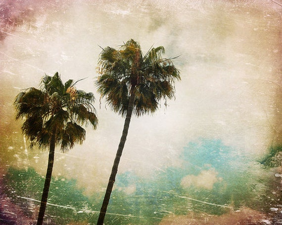 California, Los Angeles, Rodeo Drive, Summer Time, Palm Trees, Wall Decor, Travel Photography, Pop, Retro - Retro Palm Trees