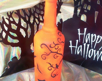 Spooky Halloween Bottle Lamp