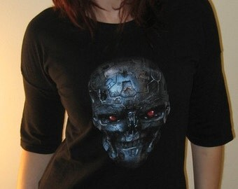 TERMINATOR Salvation Reconstructed Tunic T Shirt OOAK COMIC CON