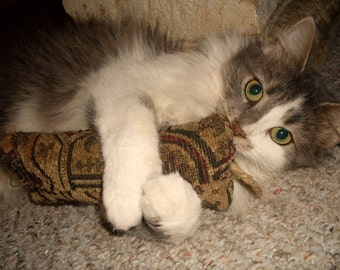 Beat-em Ups - Cat Toy made from Recycled Interior Fabric with Organic Catnip