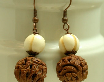 "Shop ""chinese carved bone"" in Earrings"