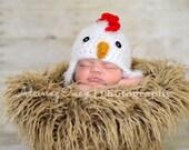 POPULAR Newborn 3m 6m Fuzzy Chicken Hat Soft Photo Prop Baby Chick Boy Girl Gift Gender Neutral Cute HALLOWEEN Costume CHRISTMAS Gift