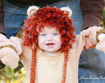 Baby Lion HAT Size Newborn 0-3 Crochet Photo Prop Gift Clothes Boys Girls Animal Costume Spring Easter Gender Neutral