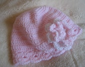 RESERVED for tan0924 - Crochet Scallop Baby Beanie Hat 6 - 12 mths in Creme - Custom Order
