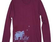 Tshirt - Article.1 Long Sleeved Fine Jersey Ambling Along - Women's XL by BeastlyBeasties