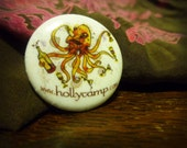 """Drunktopus 1"""" Pin // Pinback Button Drunk Octopus Party Funny"""