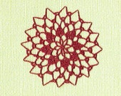 Dollhouse Miniature Crocheted doily  Winterberry by Thimbleberry