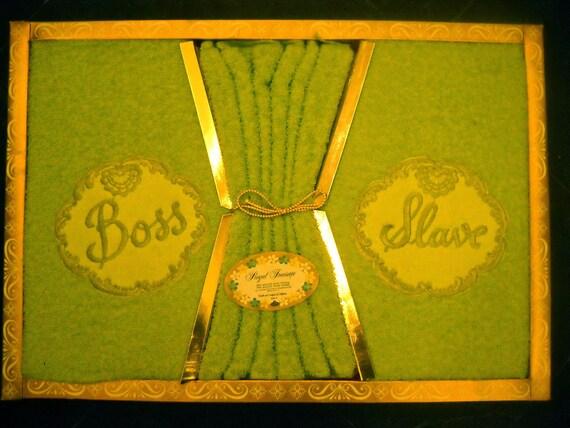 Vintage Sexist Bath Towel Gift Set