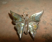 Mexican Silver Butterfly Pin