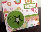Celebrate Happy Birthday Card-FREE SHIPPING