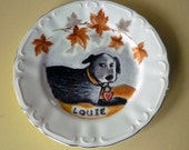 CUSTOM dog portrait on a plate