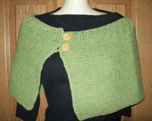 Hand Knit Wool Shawl