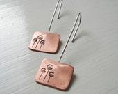Pod Long Cutout Earrings In Copper & Silver