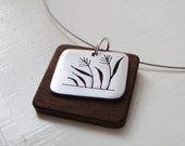 Grasses Cutout Neckwire Necklace - Modern Woods