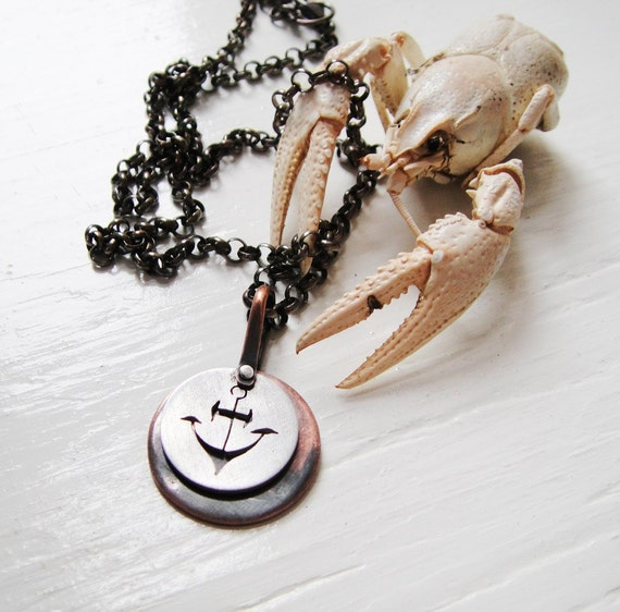 SALE - My Anchor Cutout Necklace - Dark Matter Series