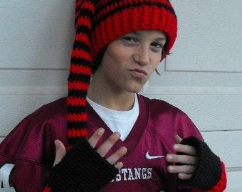 Skater Hat and fingerless glove set