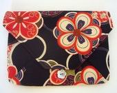 Black Kimono-Envelope Clutch