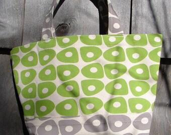 Mini Bag, Purse, Tote, Canvas, Wrist Bag, Beach Stones, Spring Green, Taupe