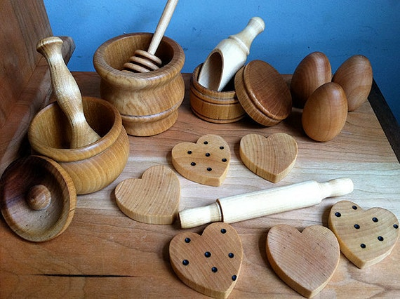 Sale baking set for natural kitchen play by for Kitchen set natural