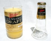 CLOSEOUT  Recycled Bottle Candle with Top Half of Bottle  GDB