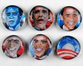 Obama Bubble Magnets, Set of 6