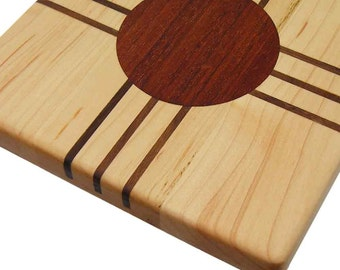 Cutting Board with Inlaid Cherry