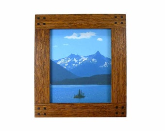 Mission Photo Frame in Oak 8x10