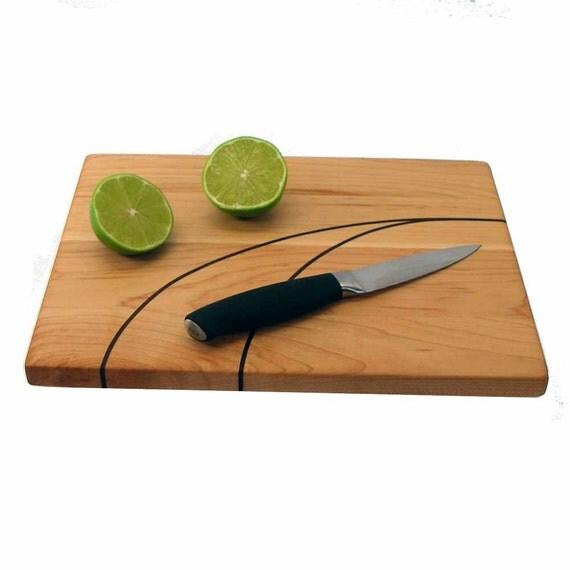 Cutting Board with Walnut Inlay