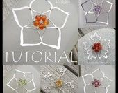 Wire Jewelry Tutorial - FIVE BEAD FLOWERS - Step by Step Wire Wrapping Wirework Instructions - Instant Download