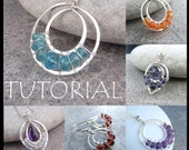 Wire Jewelry Tutorial - LACE UPS (Pendants and Earrings) - Step by Step Wire Wrapping Wirework Instructions - Instant Download