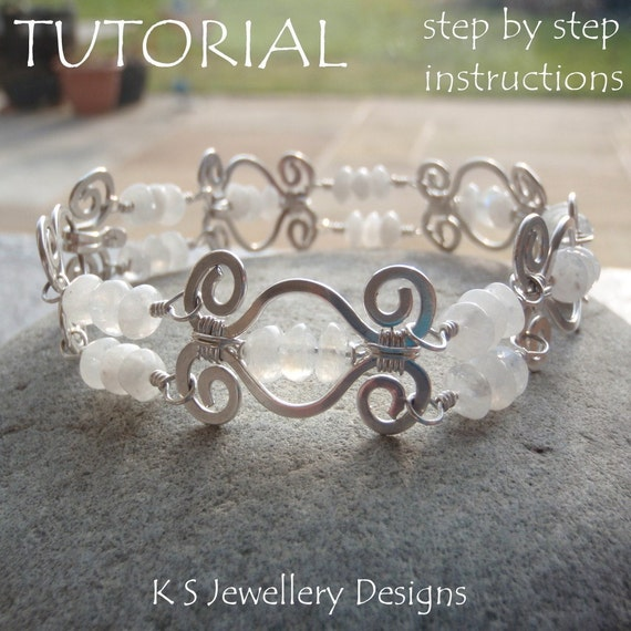 TUTORIAL HAMMERED SWIRL LINK BRACELET Step By Step