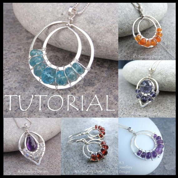 Wire Jewelry Tutorial LACE UPS Pendants and by ...