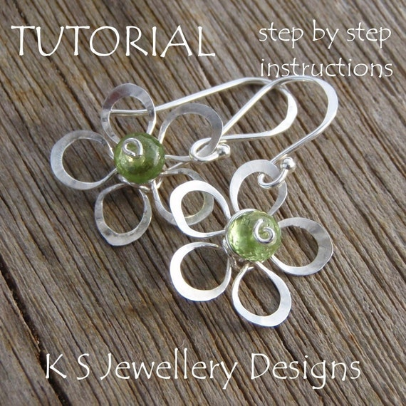 TUTORIAL - Wire Flowers (4 variations) - Step by step instructions - WIRE JEWELRY - Easy