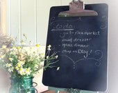 Chalkboard Clipboard Organizing Office Picture Display Notes Wall Art Kitchen Decor