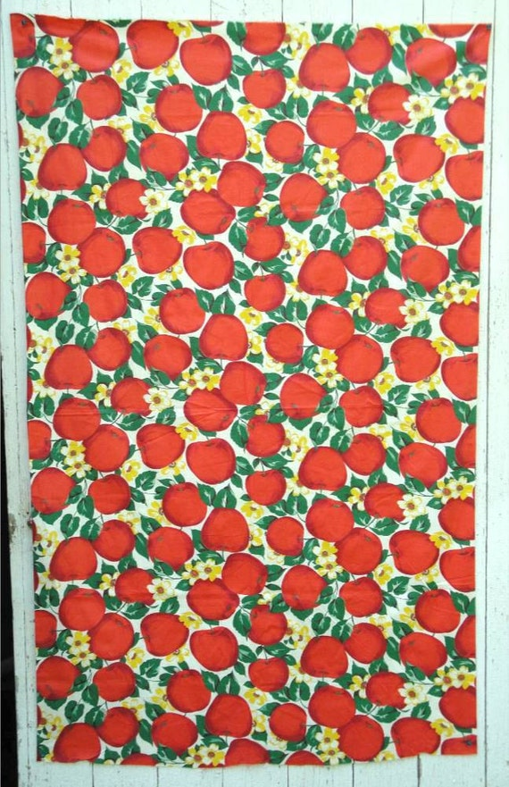 Vintage Apple Fabric Polished Cotton