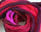 5 pcs Sik Necklace Ribbon Choose from Burgundy Merlot Pink Silk Fairy Ribbon Hand