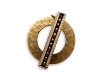 6 sets Vintaj Hammered Ring and Bead Pod Toggle set