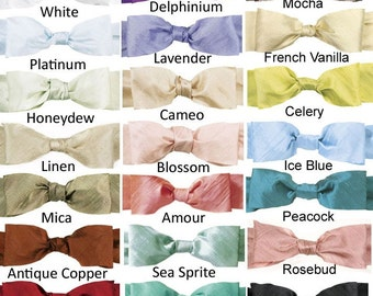 "9 yds Silk Ribbon Bias Cut Dupioni Choose Your Color 3/4"""