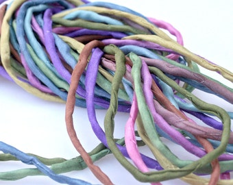 10 ea 2mm Silk Strings Mid Toned Bundle Hand Dyed