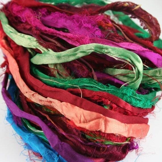 Recycled Sari Ribbon Ribbon Made From Recycled Silk